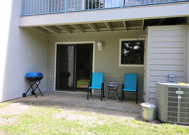 Back patio with Charcoal Grill