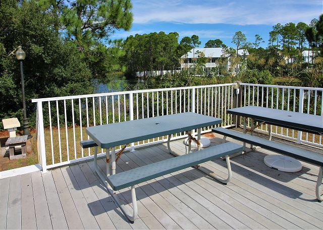 Fishing Filet area with Grill & Party Deck, Dune Lake behind co