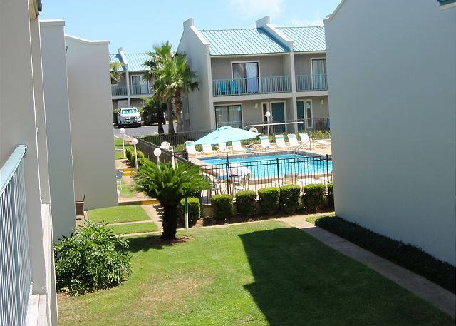 View of Pool from Front Balcony