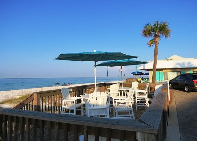 Capri Community Beach Deck just steps away!