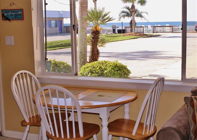 Dining Table with Gulf View