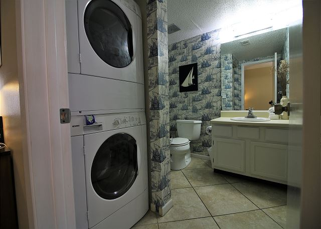 Half Bath with Laundry