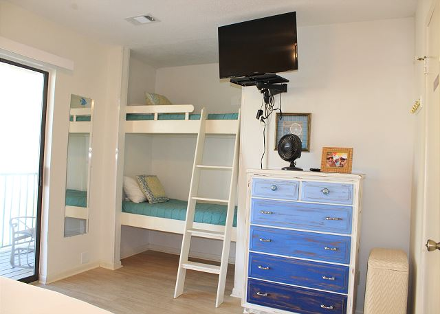 2nd Bedroom with Queen Bed and Twin Bunk Beds