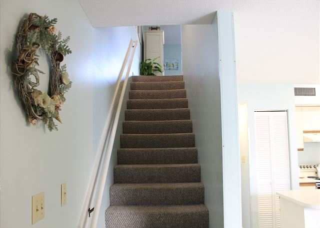 Stairs up to Living Area and Master Bedroom
