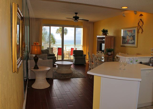 Gulf Views from Living,Dining & Kitchen areas!