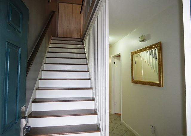 Stairs up to Kitchen,Living&Dining Area
