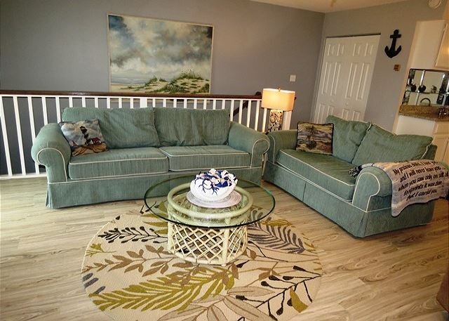 Living Area with Queen Sleeper Sofa