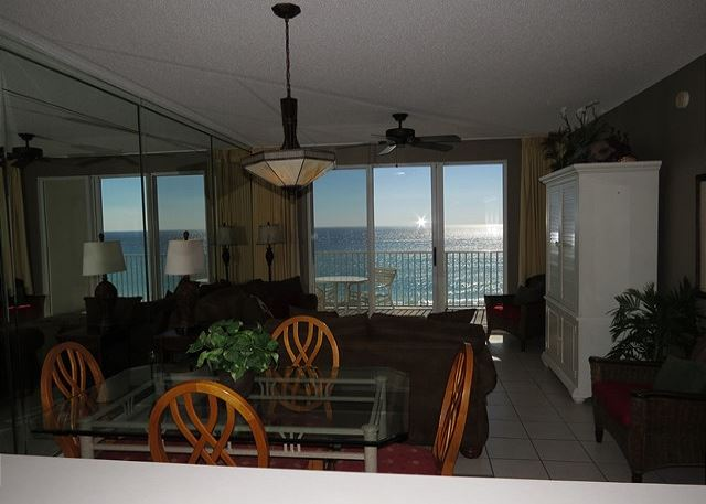 Living & Dining Area with Gulf View