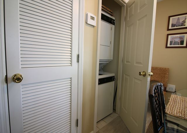 Laundry Closet off Dining Area