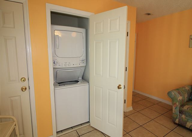 Laundry Closet in Condo