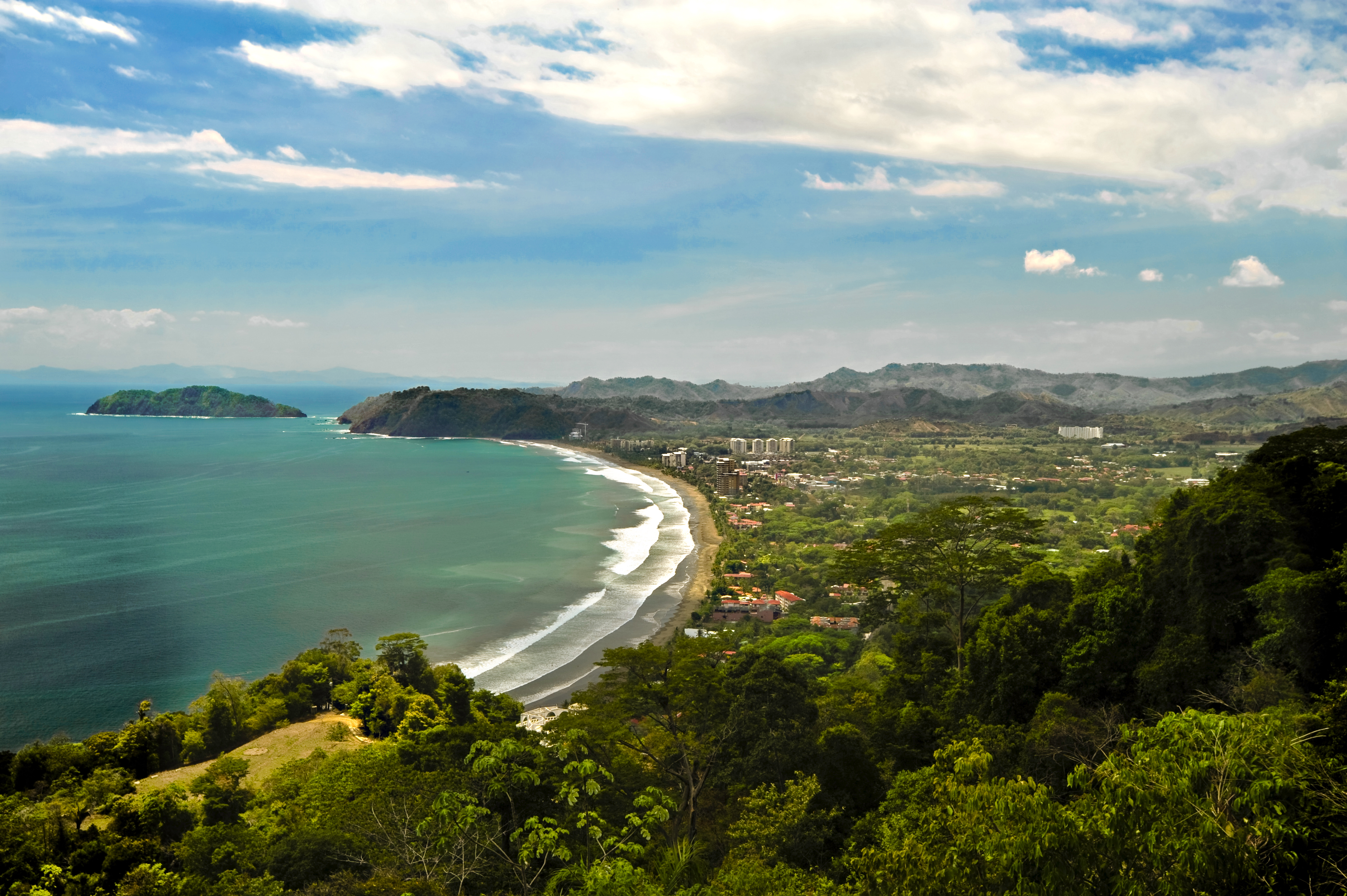 Exterior Jaco Beach Surrounded By Lush Rainforest From Above