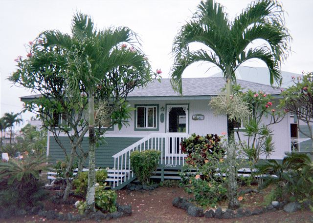 Enjoy the tropical landscaping around the cottage.
