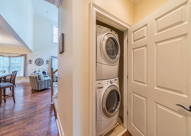 Pack light and enjoy our washer and dryer -