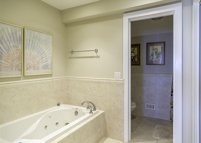 The master bath is like a private spa