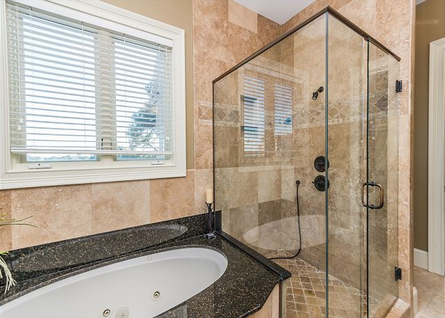 Long shower or a soak in the tub? You decide!