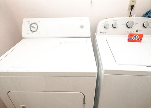 Pack light and enjoy our washer and dryer