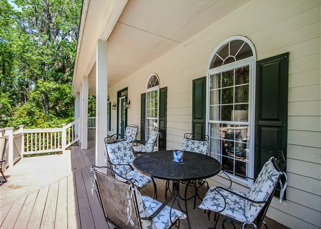 Bittern 11, 5 Bedrooms, Large Private Pool, Sleeps 14 - Front porch - HiltonHeadRentals.com