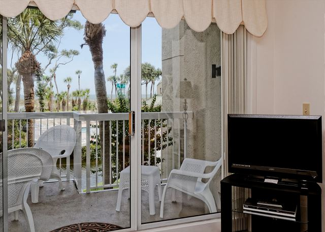 Barrington Arms 103, 1 Bedroom, Oceanfront View, Pool, Sleeps 4 - View of the Ocean - HiltonHeadRentals.com