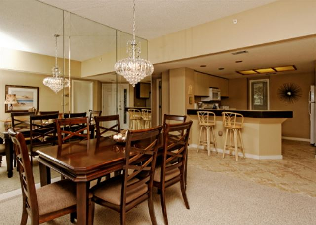 Barrington Arms 205, 3 Bedrooms, OceanView, Pool & Spa, Sleeps 8 - After Dinner Games - HiltonHeadRentals.com