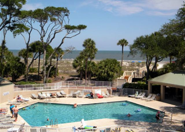 Barrington Arms 205, 3 Bedrooms, OceanView, Pool & Spa, Sleeps 8 - Your View - HiltonHeadRentals.com