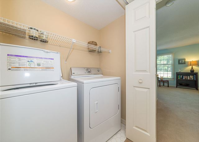 Evian 298, Ground Floor, 2 Bedrooms, Pool, Sleeps 8 - Active families love our laundry room! - HiltonHeadRentals.com