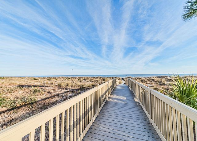 You won't forget walking down to the beach on this boardwalk!