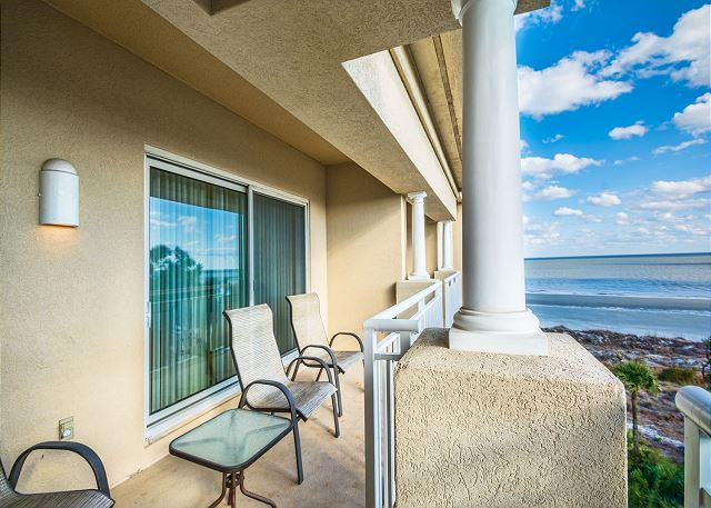 Hampton 6508, 3 Bedroom, Ocean Front View, Ocean Pool & Hot Tub - Balcony - HiltonHeadRentals.com