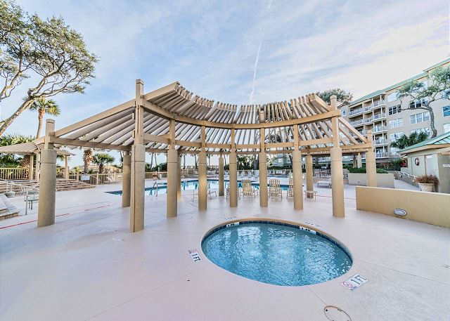 Hampton 6508, 3 Bedroom, Ocean Front View, Ocean Pool & Hot Tub - Had long days? - HiltonHeadRentals.com