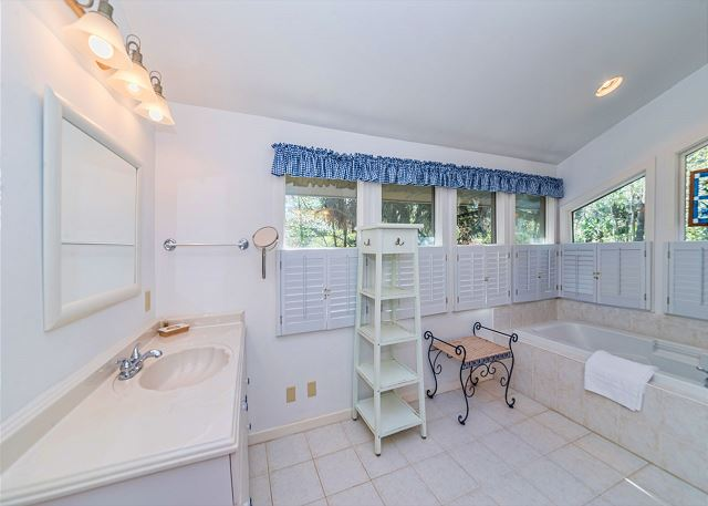Hickory Lane 1, 6 Bedroom, Private Pool, Near Beach, Sleep 21 - Bathroom Beauty - HiltonHeadRentals.com