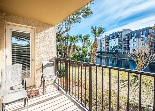 Island Club 6106, 2 Bedrooms, Lagoon View, Large Pool, Hot Tub - View from the balcony - HiltonHeadRentals.com