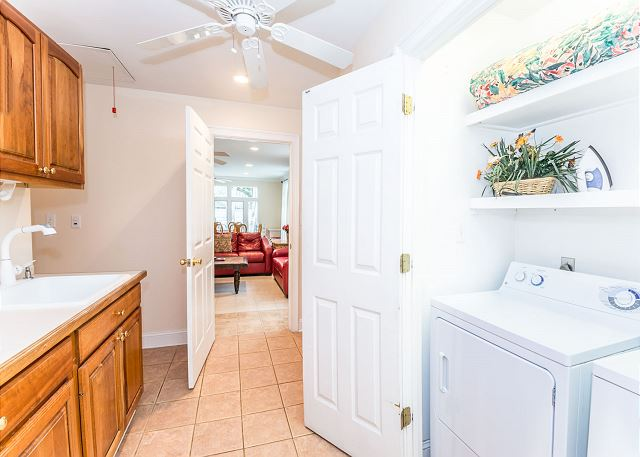 Myrtle Lane 1, 5 Bedroom, Private Heated Pool & Spa, Sleeps 12 - Laundry room - HiltonHeadRentals.com