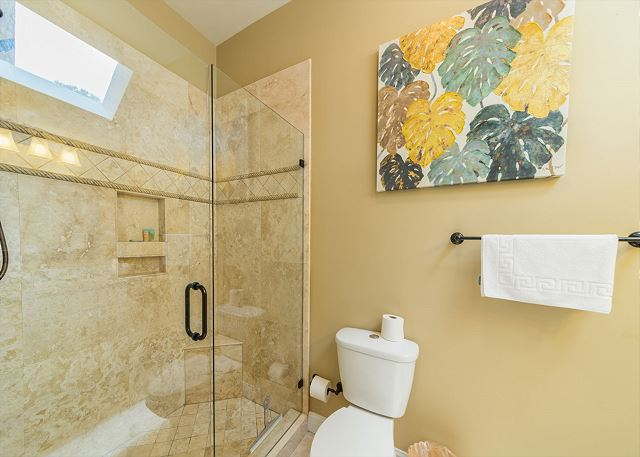North Sea Pines Drive 23, 4 Bedroom, Private Pool, Sleeps 12 - Shower Tub Combo - HiltonHeadRentals.com