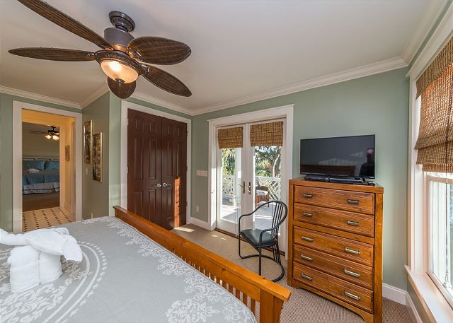 Roadrunner 2, 6 Bedrooms, Private Pool, Spa, OceanView, Elevator - Sit out on the balcony before bed - HiltonHeadRentals.com