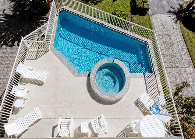 Urchin Manor 4, 5 Bedroom, Private Pool Spa, Elevator, Sleeps 20 - The view from the balcony - HiltonHeadRentals.com