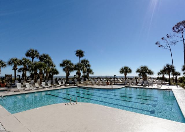 Villamare 1204, 2 Bedrooms, Ocean View,  Outdoor & Indoor Pool - Ocean side pool - HiltonHeadRentals.com