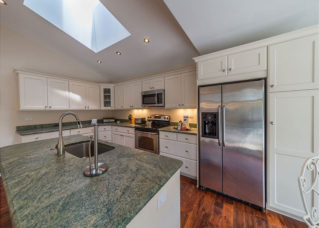 Our gourmet kitchen will make you a fan of eating in