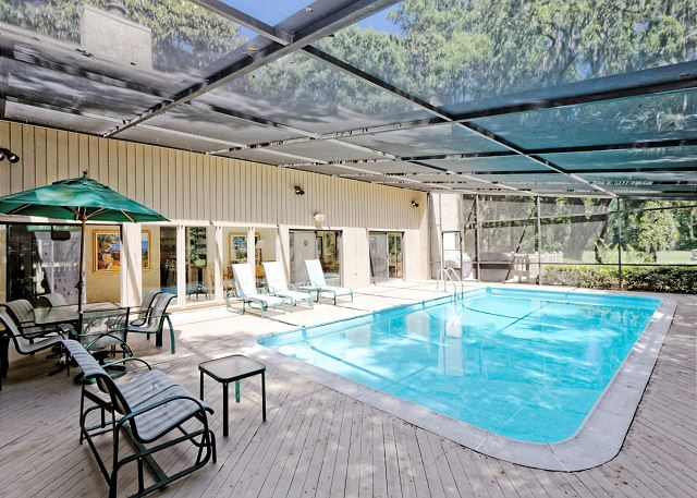 Planters Wood 24, 5 Bedroom, Private Heated Pool, Golf View - Screened  in Porch - HiltonHeadRentals.com