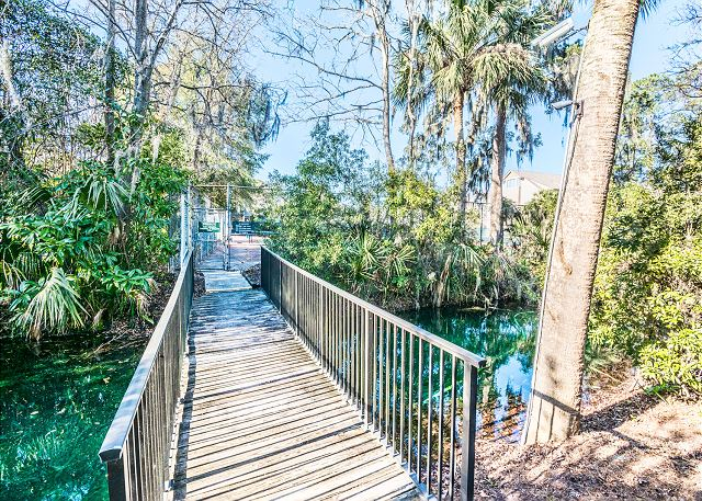Xanadu 19-A, 2 Bedroom, Large Pool, Walk to Beach, Sleeps 8 - Vegetation - HiltonHeadRentals.com