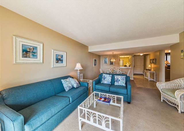 Island Club 3202, 2 Bedroom Oceanfront View, Pool, Walk to Beach - Get Together - HiltonHeadRentals.com