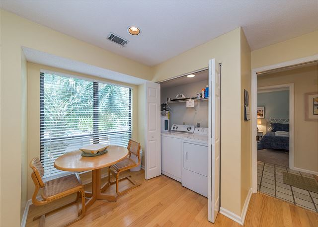 Lake Forest Villa 3368, 2 Bedroom, Lagoon View, Pool, Tennis - Laundry Room - HiltonHeadRentals.com