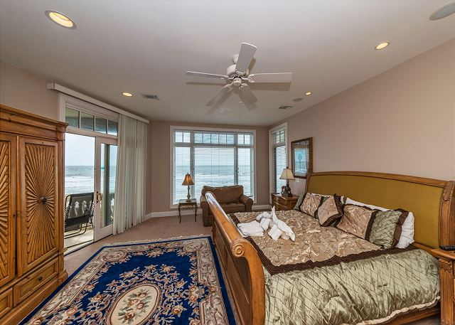 Singleton Beach 11A, Oceanfront 2 Bedrooms, Elevator, Pool - Master Bedroom Views - HiltonHeadRentals.com