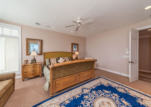 Singleton Beach 11A, Oceanfront 2 Bedrooms, Elevator, Pool - Second Floor Master Bedroom - HiltonHeadRentals.com