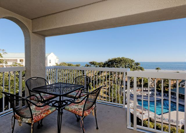 Barrington Arms 503, 1 Bedroom, Ocean View, Pool & Spa, Sleeps 4 - Views - HiltonHeadRentals.com