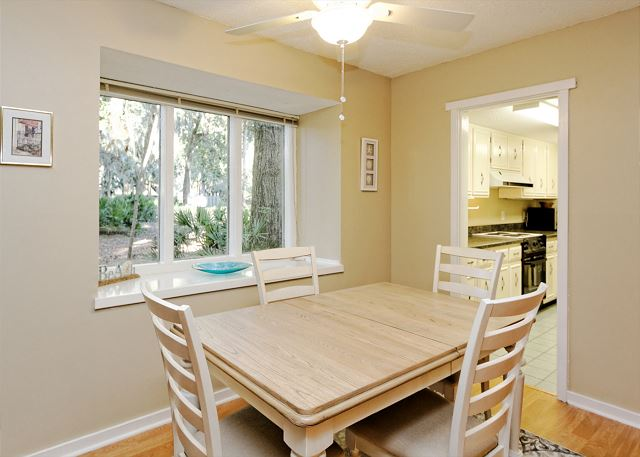 SailMaster 37, 2 Bedrooms, Pool, Patio, Sleeps 6 - Dining with a view - HiltonHeadRentals.com