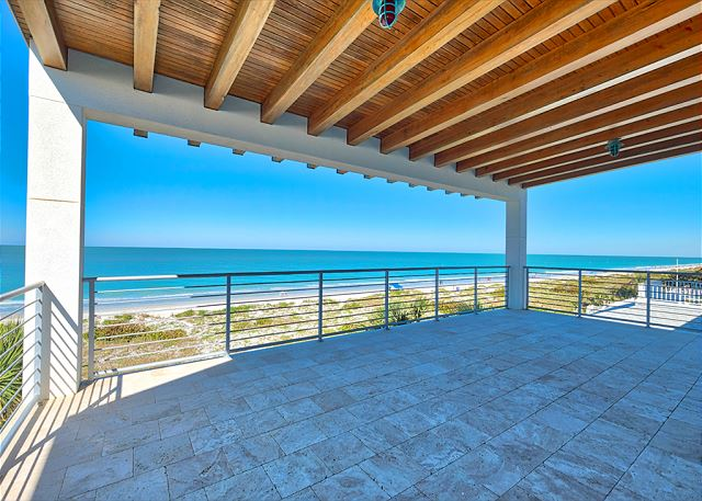 This is one of two very large Verandas overlooking the beach!  This veranda will be furnished with group seating and dining.  Stay tuned for updated photos!!