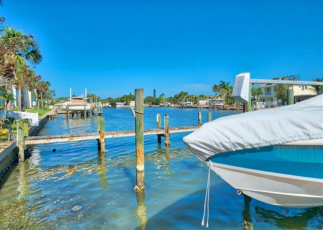View of Dock.  This nice townhome is located 3 blocks from the beach.