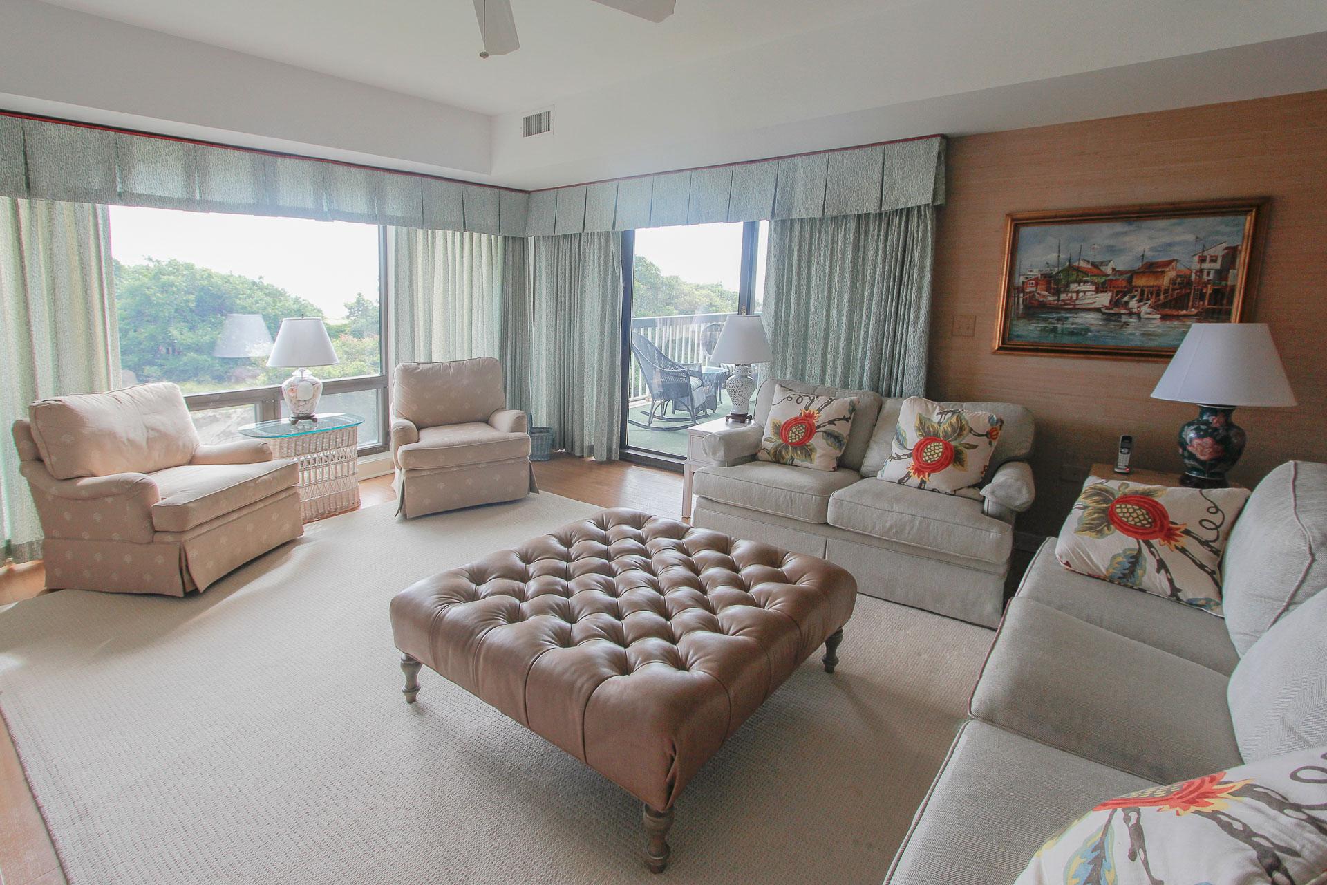 Exterior Spacious Living Room