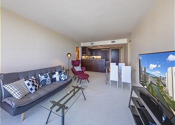 Water Mark Waikiki 2202 2bd/2ba/1pa Ocean/Harbor View - 1Q2TW1SF