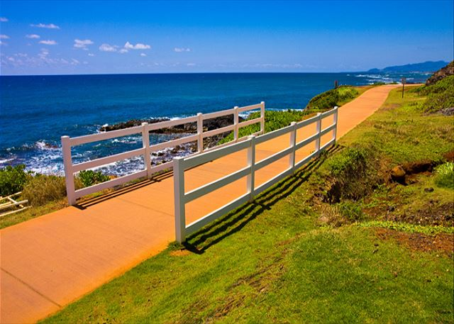 miles of ocean front path