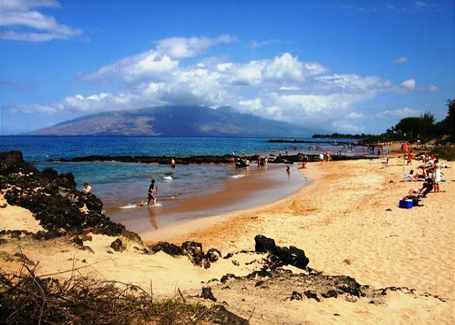 Haleakala Shores is across the street from Kamaole Beach.